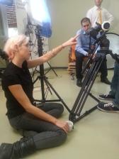 Maggio 2015: realizzazione dello spot First day in Sintetica con Ambra Principato