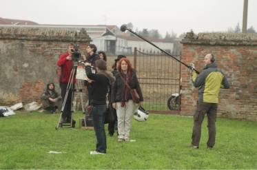 Settembre 2013: il set del film Felice nel box