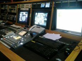 Settembre 2015: la sala regia dell'emittente La9 di Padova