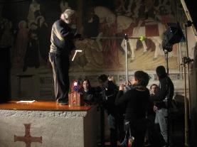 Novembre 2011: backstage del documentario dell'Oratorio di Santo Stefano a Lentate sul Seveso